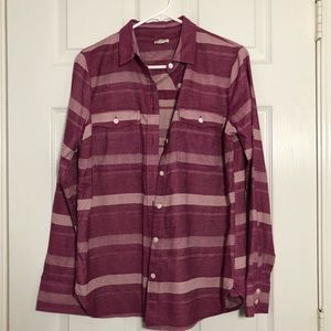 J. Crew Purple White Flannel Button Down Shirt